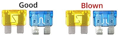 Good and blown fuses