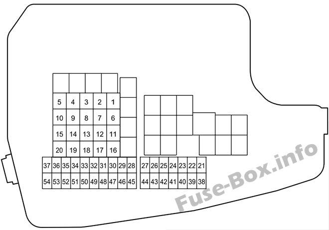 Under-hood fuse box diagram: Mazda CX-5 (2013, 2014)