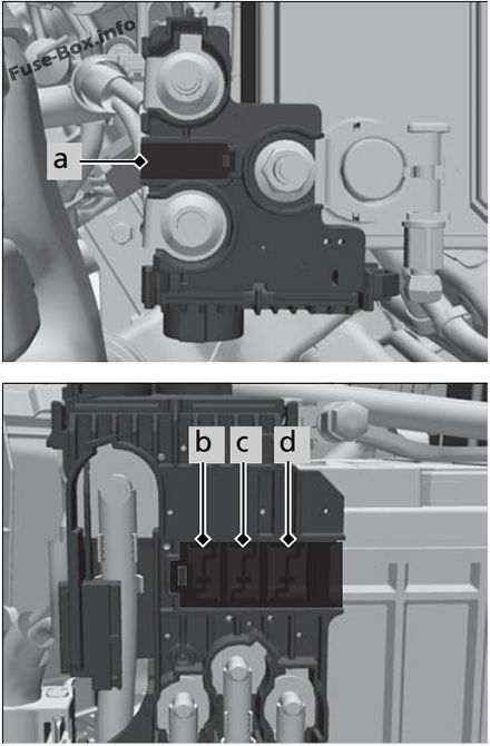 Under-hood fuse box B diagram: Honda HR-V (2019)