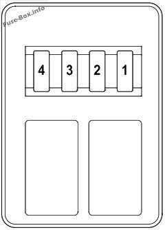 Trunk fuse box diagram: Honda Pilot (2009, 2010, 2011)