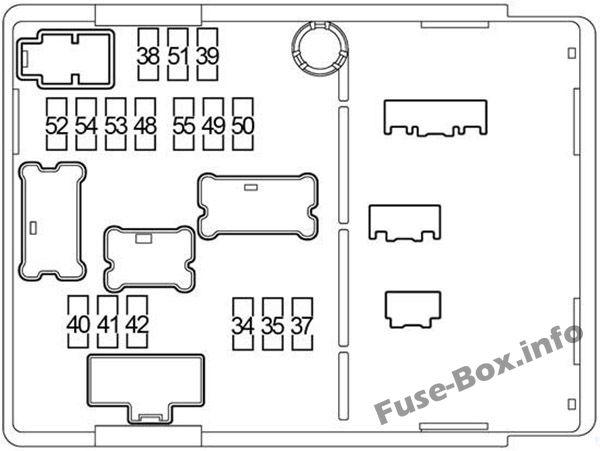 Under-hood fuse box diagram: Nissan Versa Note / Note (2013-2018)