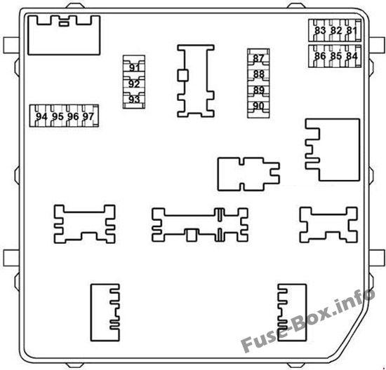 Under-hood fuse box diagram: Nissan X-Trail (2013-2018)
