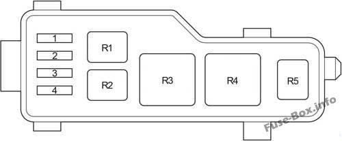 Relay Box: Toyota Avensis II (2003, 2004, 2005, 2006, 2007, 2008, 2009)