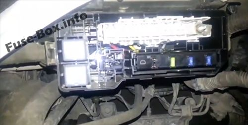 Fuse Box in the Engine Compartment (location): Toyota HiAce (2014-2018-..)