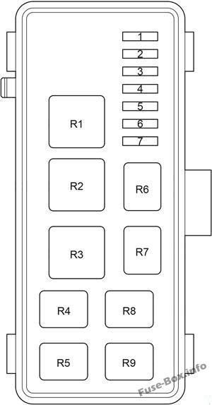Passenger Compartment Relay Box (diagram): Toyota HiAce (2005-2013)