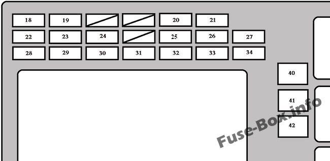 Instrument panel fuse box diagram: Toyota Matrix (2003, 2004, 2005, 2006, 2007, 2008)