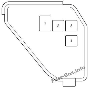 Additional Fuse Box: Toyota Prius C (2012, 2013, 2014, 2015, 2016, 2017)