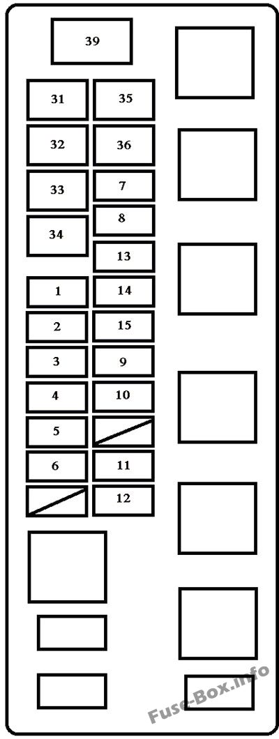 Under-hood fuse box diagram: Toyota Tundra (2000)