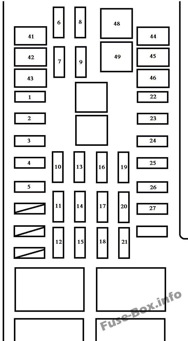 Under-hood fuse box diagram: Toyota Tundra (2005, 2006)