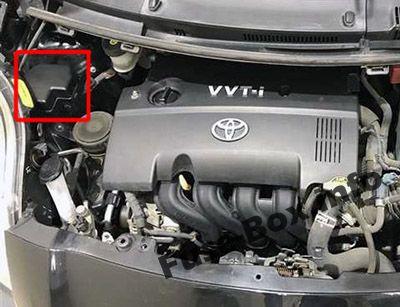 Engine Compartment Relay Box: Toyota Yaris / Vitz / Belta (2005-2013)
