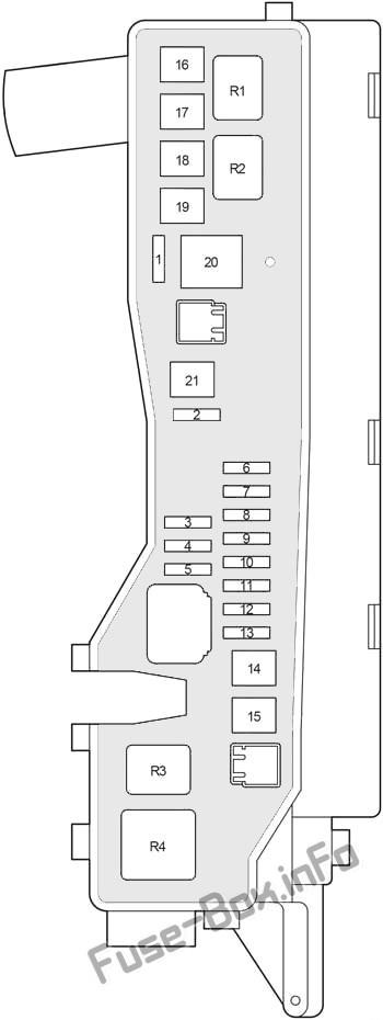 Under-hood fuse box diagram (ver.2): Toyota Avensis II (2003, 2004, 2005, 2006, 2007, 2008, 2009)