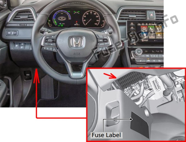 The location of the fuses in the passenger compartment: Honda Insight (2019)