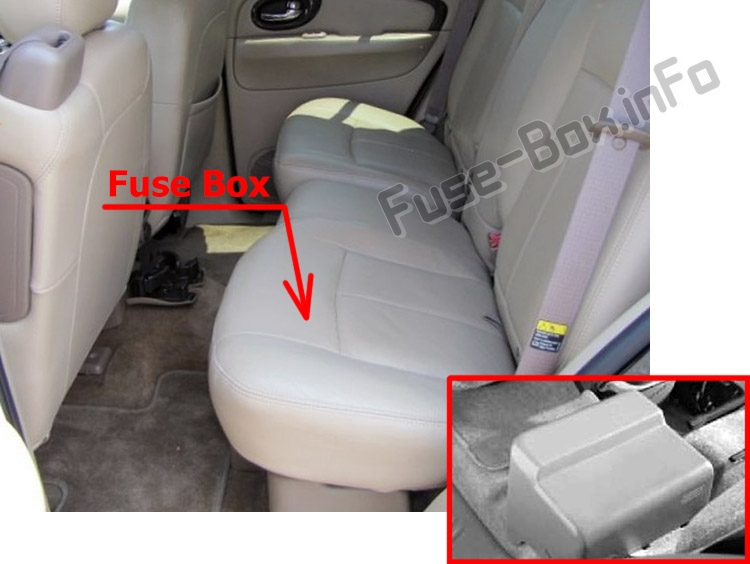 The location of the fuses in the passenger compartment: Buick Rainier (2003-2007)