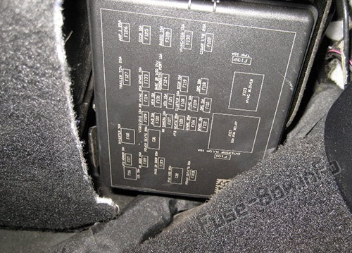 The location of the fuses in the passenger compartment: Fiat Freemont (2011-2016)