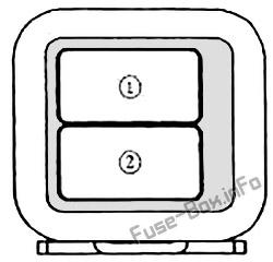 Trunk fuse box diagram: Mazda MX-5 Miata (NA; 1989, 1990, 1991, 1992, 1993, 1994, 1995, 1996, 1997)