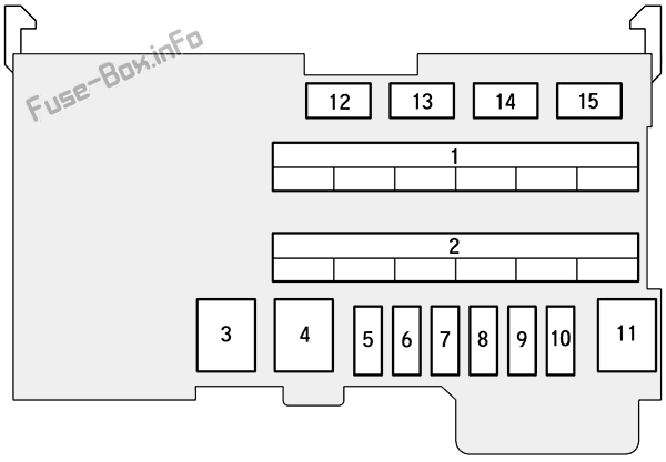 Instrument panel fuse box B diagram: Honda Fit (2015, 2016)