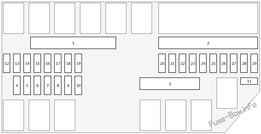 Under-hood fuse box A diagram: Honda Pilot (2016, 2017)