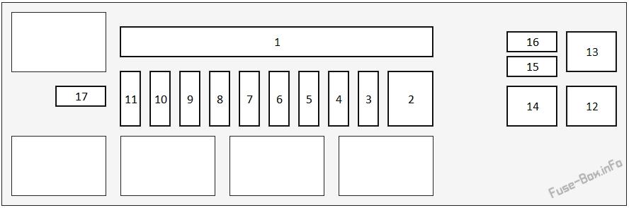 Under-hood fuse box B diagram: Honda Pilot (2016, 2017)